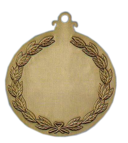 Back of antique sports medal