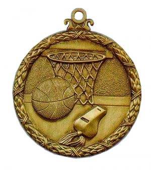 basketball antique medal