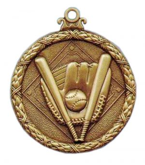 baseball antique medal