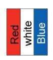 RIB004 Red White Blue