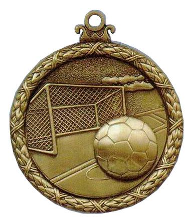soccer antique medal