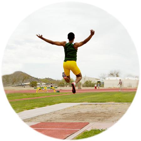 Male long jump