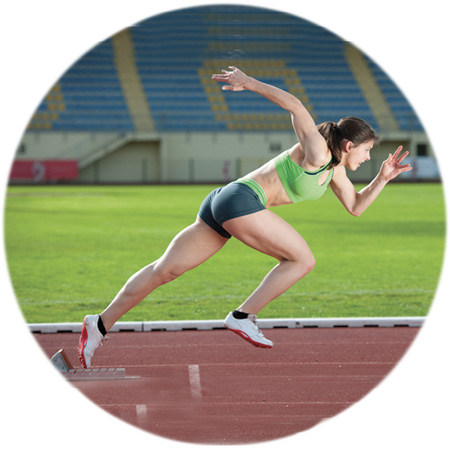 female sprint athlete