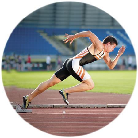 Male sprint athlete