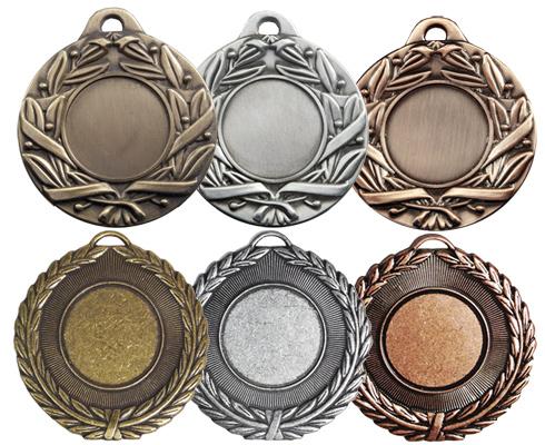 Antique Leaf & Scroll Medals, Antique Laurel - 50mm medals